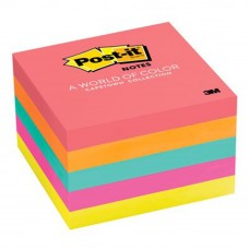 "3M 654-5PK Post-It 3""x 3"" 5PK Cape Town Color 5 Pads"
