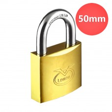 50mm Lemen Electroplated Iron Padlock With Brass Cylinder