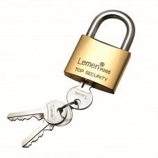 63mm Lemen Brass Padlock Brass Cylinder Iron Key