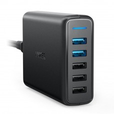 Anker A2054 PowerPort 63W 5-Port Speed 5 Dual Quick Charge 3.0 USB Wall Charger - Black