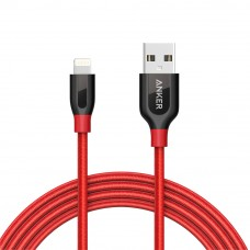 Anker A8122 PowerLine+ 6ft MFI Lightning Connector Cable - Red (1.8m)
