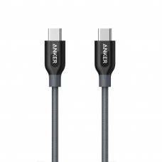 Anker A8187 PowerLine+ 3ft USB-C to USB-C 2.0 Connector Cable - Gray (0.9m)