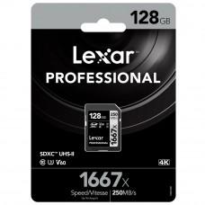 Lexar 1667X Professional 128GB V60 U3 SDXC™ UHS-II Memory Cards (up to 250MB/s read, 120MB/s write)