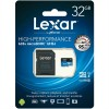 Lexar 633X microSDXC 32GB High-Performance A1 U1 UHS-I Memory Cards with SD Adapter (up to 95MB/s)