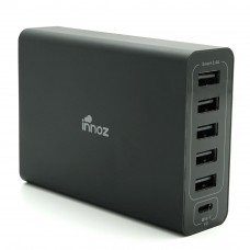 Innoz® InnoPower PD6C USB-C PD 6 Port Desktop Charger - Black