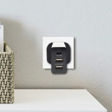 Innoz® InnoPower Q3C 3 Port with Type-C QC3.0 Smart Wall Charger - Black