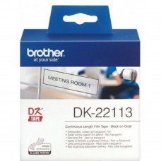 Brother DK22113 Black on Clear Continuous Length Film (62mm x 15.24m)