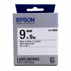 Epson LK-3WBN LabelWorks Tape - 9mm Black on White Tape (Item no: EPS LK-3WBN)