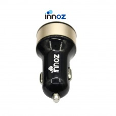Innoz® XQ2 2-Port Quick Charge 3.0 USB Car Charger - Black-Gold