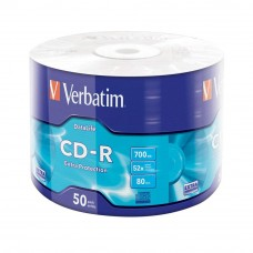 Verbatim CD-R 700MB 52X with Branded Surface - 50PCS
