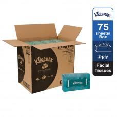 Kleenex® Facial Tissues Flat 17561 - White, 2 ply, 1 x 75sheets (75 sheets) [48 boxes /carton]