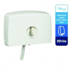 Aquarius® Jumbo Roll Toilet Twin Dispenser 70210 - White