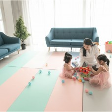 PU Leather & XPE Foam Foldable Play Mat - Pinky (220*140*4cm)