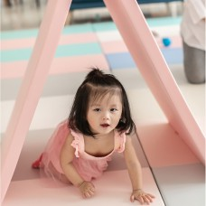 PU Leather & XPE Foam Foldable Play Mat - Pinky (200*120*4cm)