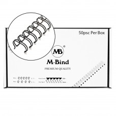 "M-Bind Double Wire Bind 2:1 A4 - 5/8""(16mm) X 23 Loops, 50pcs/box, Black"