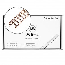 "M-Bind Double Wire Bind 2:1 A4 - 7/8""(22mm) X 23 Loops, 50pcs/box, Bronze"