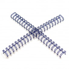 "M-Bind Double Wire Bind 2:1 A4 - 5/16""(8mm) X 23 Loops, 100pcs/box, Blue"