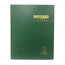 Campap CA3128 F5 3 Column Numbering Hard Cover Book 304pages