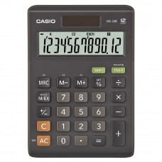 Casio Desktop Calculator - 12 Digits, Solar & Battery, Tax Calculation & Currency Exchange (MS-20B)