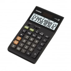 Casio Desktop Calculator - 12 Digits, Solar & Battery, Tax Calculation, Currency Exchange (J-120B)