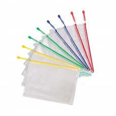 A4 Waterproof Mesh Zipper File Document Bag - 34 x 23.5 x 0cm