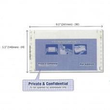 "NCR Pre-Printed Envelope Mailer Form - Payslip - 3-Ply 2-Ups - 9.5"" x 11"" 500 Fans (Item No: C01-17) A5R1B16"