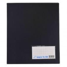 PVC COMPUTER FILE A4 - Black (Item No : C01 21 BK)
