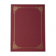 Hard Cover Certificate Holder - Maroon