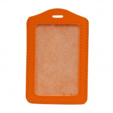 Leather Name Tag Potrait Orange (54x85mm)