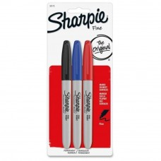 Sharpie Fine Point Permanent Marker (3pcs Pack) - Black, Blue, Red (Item No: A12-25 F ASST3) A1R3B41