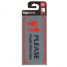 Signzone Peel & Stick Metallic Sticker - PLEASE Flush After Use (Item No: R01-73)