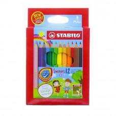 STABILO Swans Colored Pencil - Short 12pcs (Item No: B05-16) A1R2B144