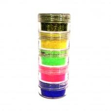 Glitter Powder 5g+/- x 5 colors