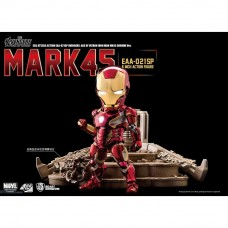 Beast Kingdom Marvel Avengers: Age of Ultron Iron Man Mark 45 MK45 EAA-021SP Egg Attack Action Figure with Ultron Sentry (Chrome Version)