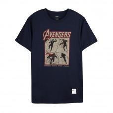 Avengers: Endgame Series Avengers Team Tee (Navy Blue, Size L)
