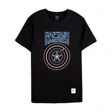 Avengers: Endgame Series Captain America Tee (Black, Size L)