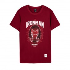 Avengers: Endgame Series Iron Flame Tee (Red, Size L)