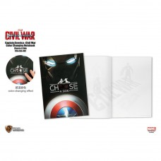 Marvel Captain America 3 Color Changing Notebook 002 - Choose A Side (STA-CA3-002)
