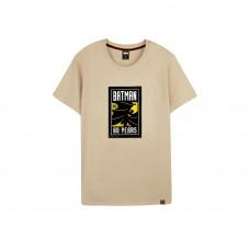Batman Series: 80TH Logo Tee (Khaki, Size L)