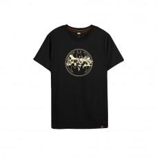 Batman Series: Golden Logo Tee (Black, Size M)