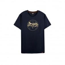 Batman Series: Golden Logo Tee (Navy, Size L)