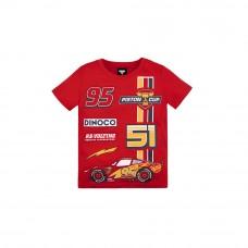 Cars 3: Kids Tee 08 (Red, Size 140) - Racing Lightning McQueen