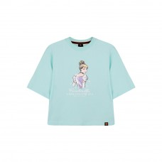 Disney Princess Series: Cinderella Women Tee (Blue, Size M)