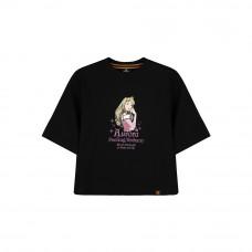 Disney Princess Series: Sleeping Beauty Women Tee (Black, Size L)