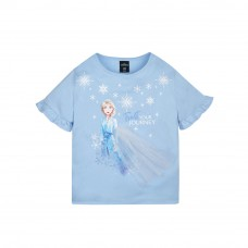 Frozen 2 Series Elsa Snowflake Kids Tee - (Blue, Size 120)