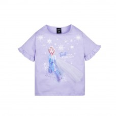 Frozen 2 Series Elsa Snowflake Kids Tee - (Purple, Size 100)