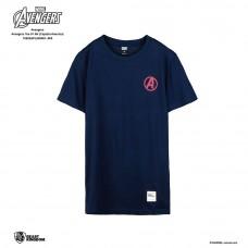 Avengers: Avengers Tee Captain America - Navy Blue, M