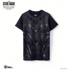 Marvel Captain America: Civil War Tee Black Panther Uniform - Black, Size XXL (APL-CA3-005)