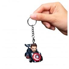 Avengers: Infinity War Pull back car keychain series Captain America