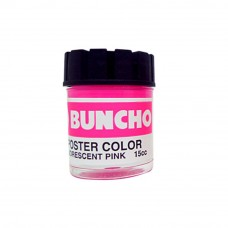 Buncho Poster Color 15CC Fluorescent F16 Pink - 6/Box